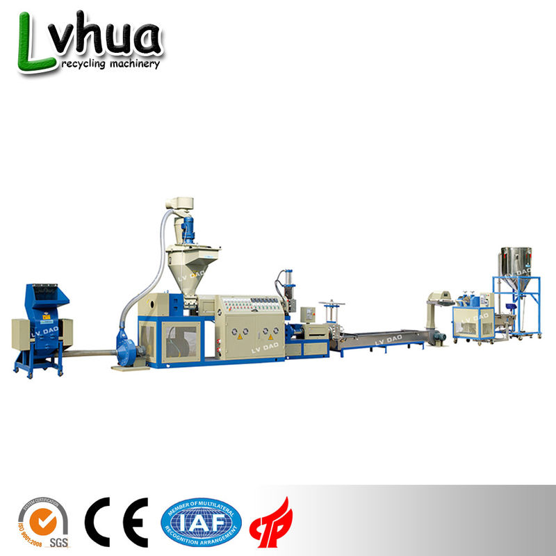 Blue Color PP Plastic Recycling Machine Automatic Loading For Dry Clean Film