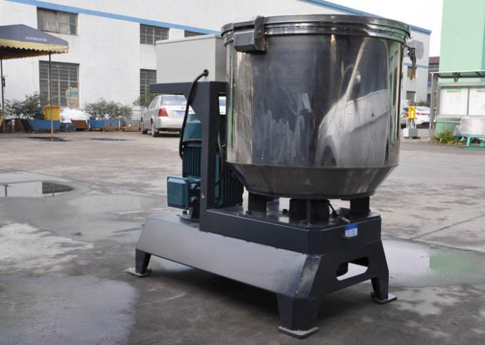 Total Volume 150kg/H Granules Mixing Machine , Drying 22kw Plastic Material Mixer