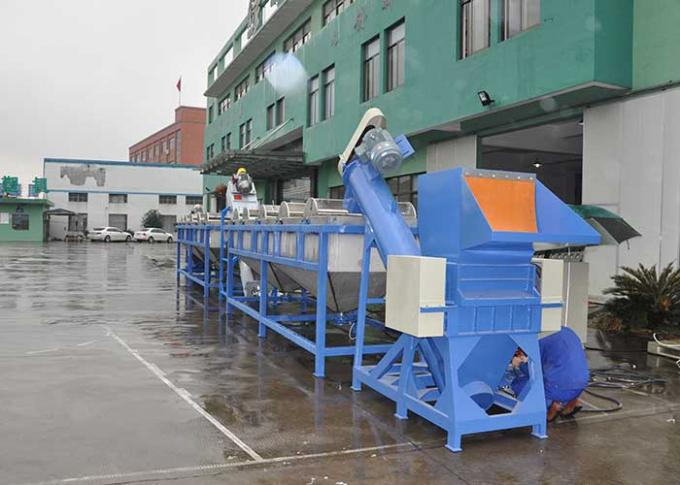 Fully Automatic Plastic Recycling Washing Line , Waste Film Pet Bottle Washing Line