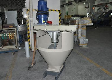China Iron Body 1.5kw Extruder Hopper , 900mm Storage Height Screw Feeder Hopper factory