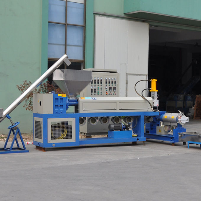 LD-SZ-65 PVC Conical Twin Screw Extrusion and Pelletizing Line 37kw High output