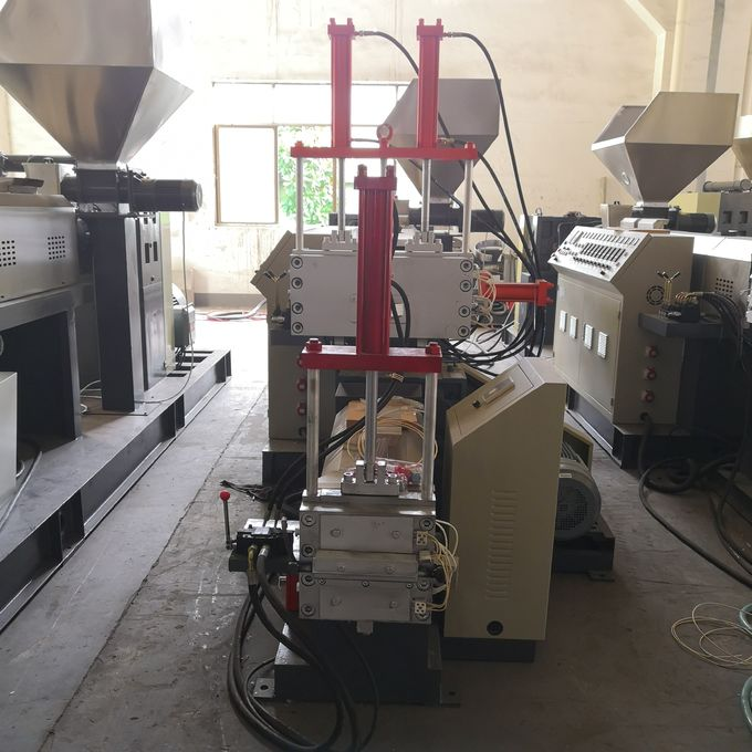 Low Noise Recycled Plastic Extruder / Plastic Recycling Line With 15kw - 45kw